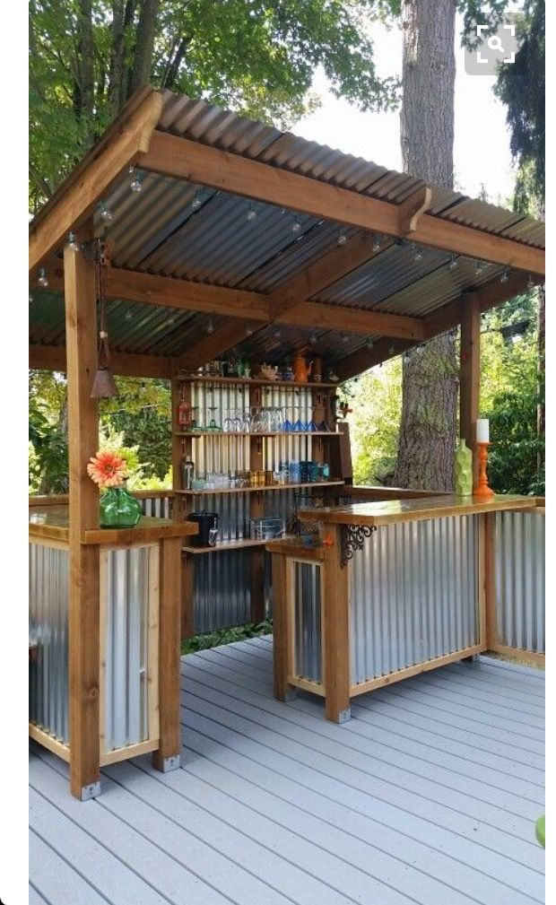 Fabulous outdoor bar for the lake house