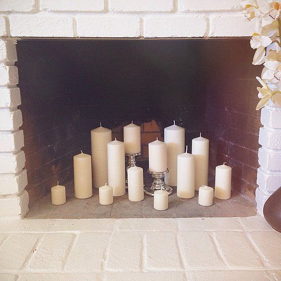 Home Is Where the Hearth Is: 11 Fantastic Fireplaces: When ambience trumps the need for heat, try replacing wood logs with candles. Source: Instagram user capturedbystait