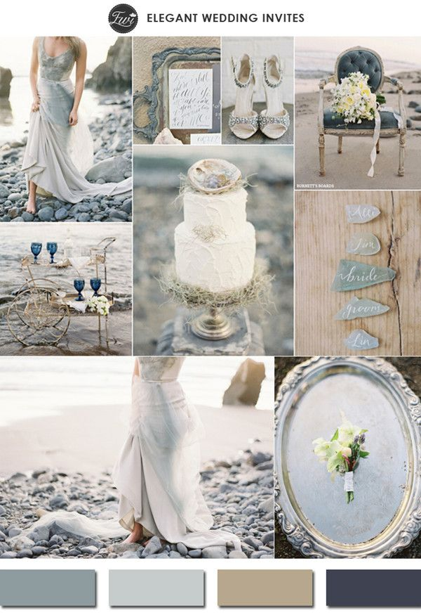 neutral colors glacier gray 2015 spring wedding color trends #weddingcolors #elegantweddinginvites