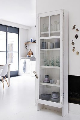 black and white and Puur Anders, like thin tall cabinet