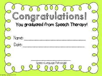 speech therapy certificate of completion  speech therapy certificate of