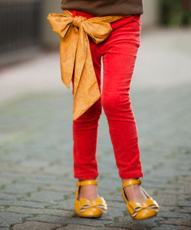 Another great find on #zulily! Red Skinny Pants - Girls #zulilyfinds