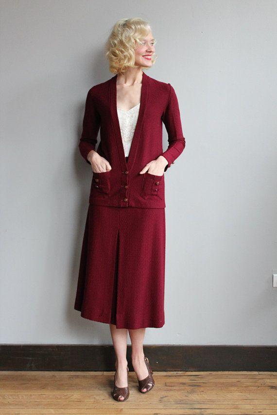Layaway!!! $256 Neupreis! Auf Layaway vorbehalten / / nicht kaufen ~ der 1920er Jahre Strickwaren ~ Strickjacke lange Jacke ~ Zwei Fronttaschen