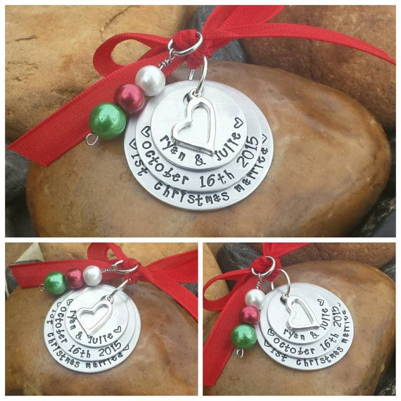 Our First Christmas Ornament - First Year Married Ornament, Couple's First Christmas Ornament, First Christmas Married Ornament