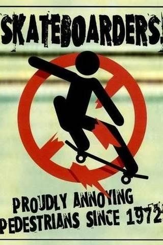 This font really captures the essence of skateboarding. Or the stereotype of skateboarding at least! Skateboarders don't skate to annoy people, they skate because its a sport, and its really fun. we cant help it you don't like it! We don't tell you football or baseball so on and so on is illegal because we dont like it. So learn to respect us!