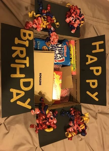 Birthday box mail friends care packages 69 Ideas