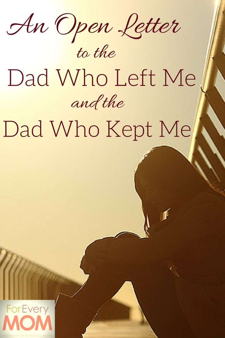 Beautiful. An open letter to the dad who left me and the dad who chose to love me and call me his own.