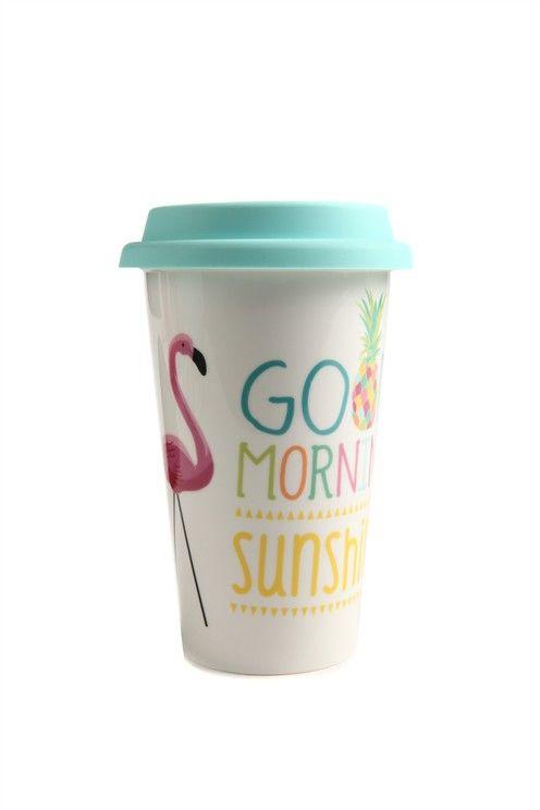 take away mug FLAMINGO