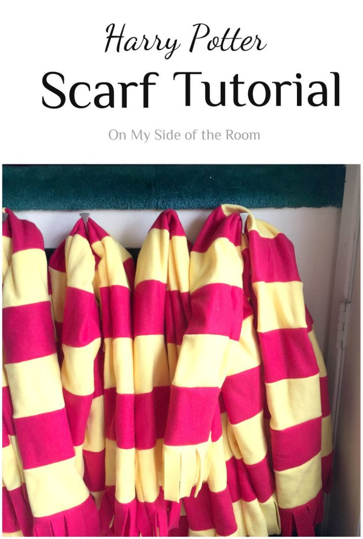 Easy DIY instructions for how to make your own Harry Potter Scarf. Perfect for a Harry Potter themed birthday party or a Harry Potter Halloween costume.