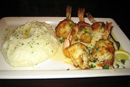 STUFFED SHRIMP MONTAGE  Pappadeaux Seafood Kitchen Restaurant Recipe   The Shrimp:  1 dozen big butterflied shrimp with tails still attac...