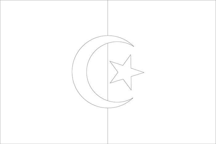 Drapreau : Drapeau de l'Algérie à colorier : 0