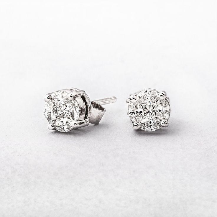 0.48ct Multi Stone Diamond Stud Earrings