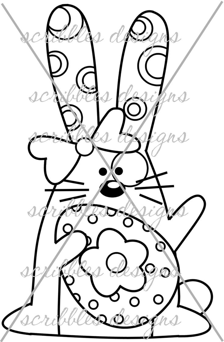$3.00 Hoppy 6 (http://buyscribblesdesigns.blogspot.ca/2014/03/431-hoppy-6-300.html) #digital stamps #digis #bunny #Easter #egg #scribbles designs