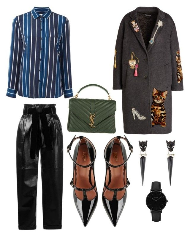 """Business lunch"" by elenazaharia on Polyvore featuring Equipment, Philosophy di Lorenzo Serafini, RED Valentino, Dolce&Gabbana, Yves Saint Laurent, Alexis Bittar and CLUSE"