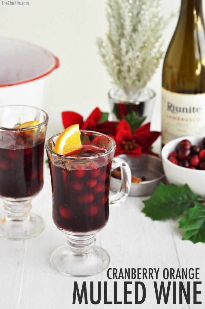 Cranberry Orange Mulled Wine- Holiday Cocktail that will keep you warm ...
