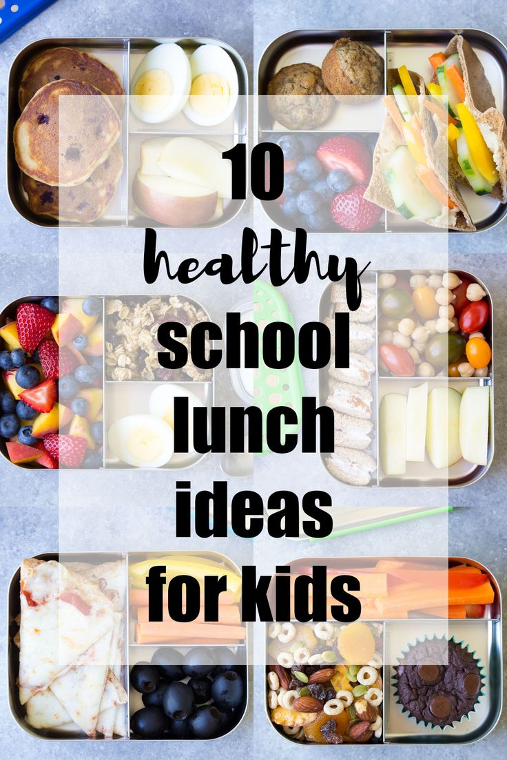 10 Healthy Lunch Ideas for Kids! Bento box lunchbox ideas to pack for school, home, or even for yourself for work! Make packing lunches quick and easy!