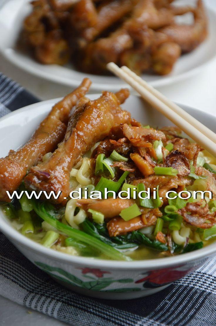 Diah Didi's Kitchen: Mie Ayam Ceker