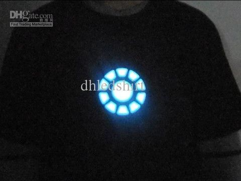 Iron Man control led t-shirt Whole energy logo is always on light if P – teeteecee - fashion in style