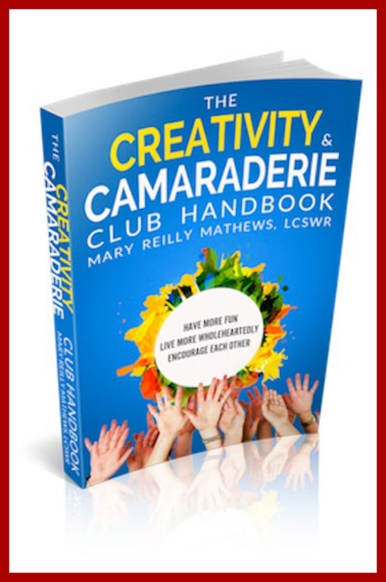 First draft of the cover for the upcoming Creativity & Camaraderie Club Handbook.  Our definition of creativity?  Anything that you do to get out of your rut and experiment in any arena of wholehearted living.  Just because you felt like it!  Sign up to hear what others are already saying and to be alerted when first copies are hot off the press:  www.danupress.com...  Learn the guidelines for a successful group.