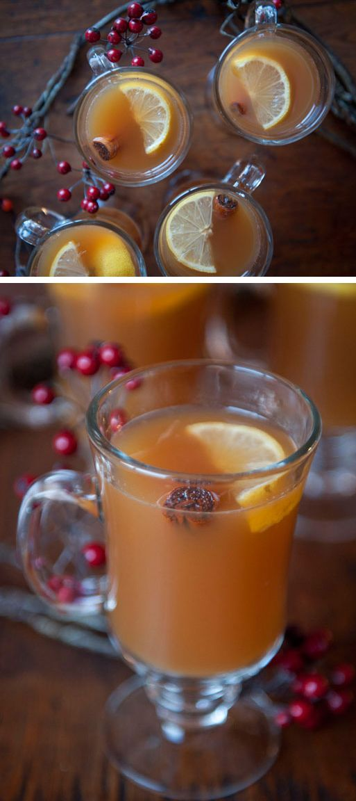 Hot Toddies - The perfect fall drink with cinnamon, Earl Grey tea, apple cider, and bourbon.