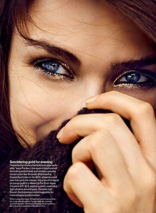 eyes: smoldering gold