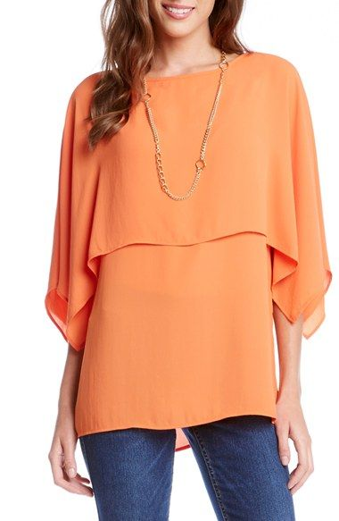 Karen Kane Double Layer Boatneck Top available at #Nordstrom