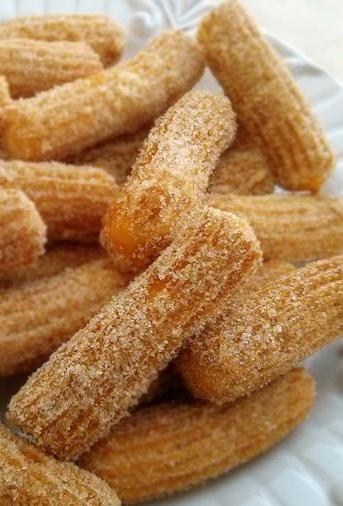 Homemade Churros. Delicious treats you buy from county fairs. But simple enough for you to make at home.