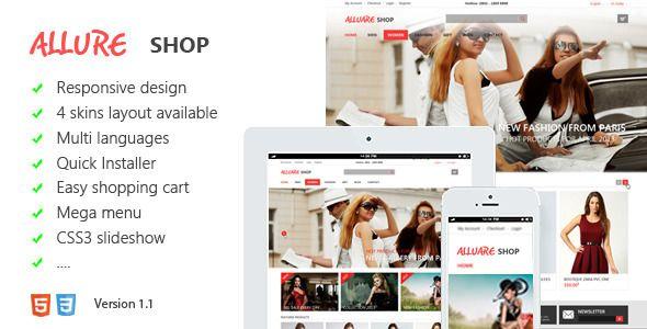 Allure Responsive Magento Theme - Fashion Magento