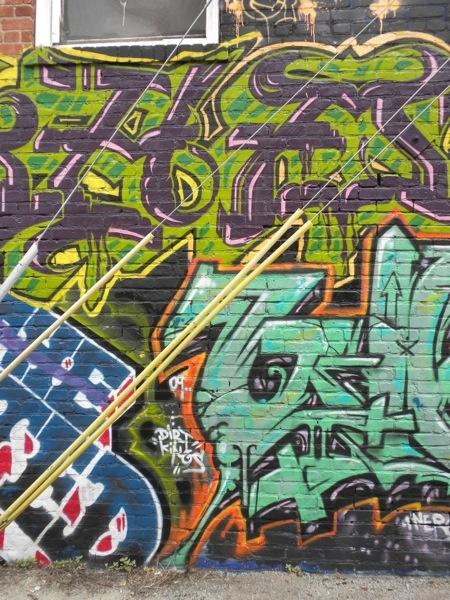 Graffiti Street Art Mural in Venice Beach, California.