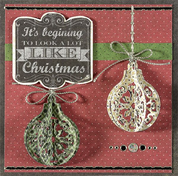 Card Making Ideas Christmas Free Part - 27: Lacy Christmas Ornaments Cutting Dies By Hot Off The Press Inc