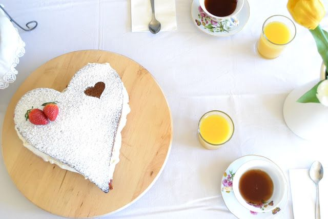 Victoria cake para San Valentín
