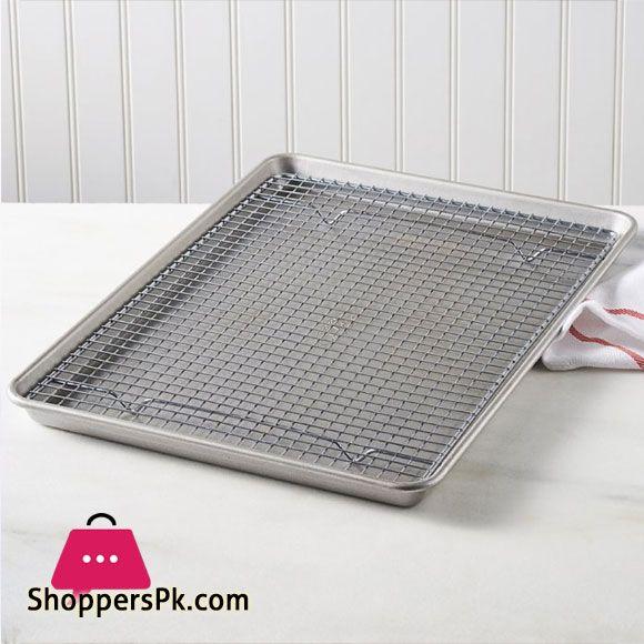 Buy Heavy Gauge Bakware Half Sheet Pan And Cooling Rack Set 45 X
