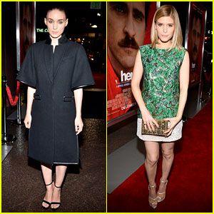 Rooney Mara: Her Premiere with Sister Kate Mara! - Just Jared