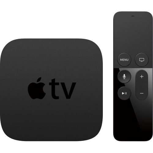 Apple - Apple TV - 32GB - Black - Front Zoom