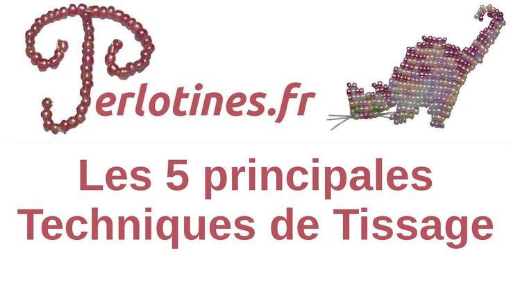 PERLOTINES : Les 5 principales techniques de tissage pour perles de roca...