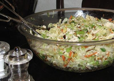 Raman Chicken Salad -   This is one of my staple salads to bring to a BBQ - love the crunchy Raman noodles