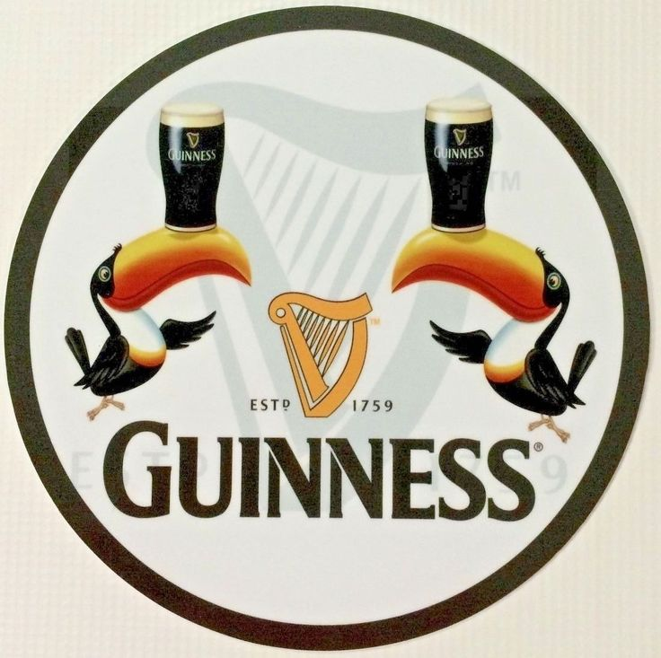 Guinness Toucan Mascot Tattoo: 37 Best Beverage Tin Signs Images On Pinterest