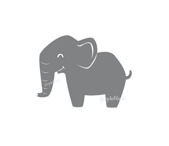 Elephant wall decal  cute baby elephant  by FairyDustDecals