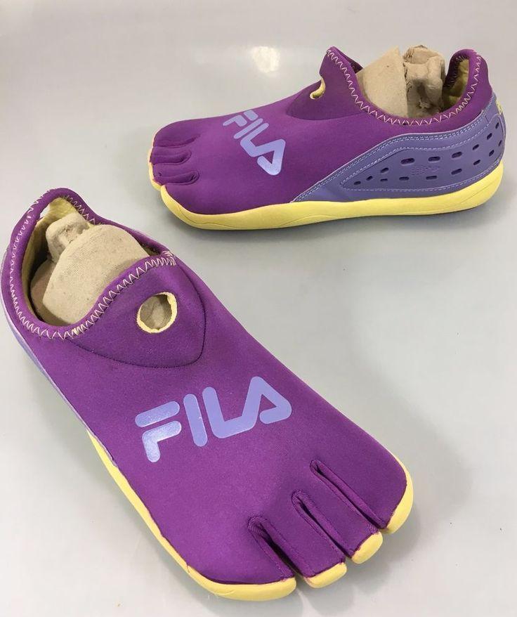 Fila Womens 10 Purple Skele-Toes Barefoot Running Athletic Shoes 5 Finger #FILA #RunningCrossTraining
