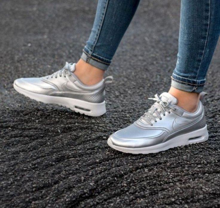 Nike Air Max Thea Print Men's Shoes Silver White