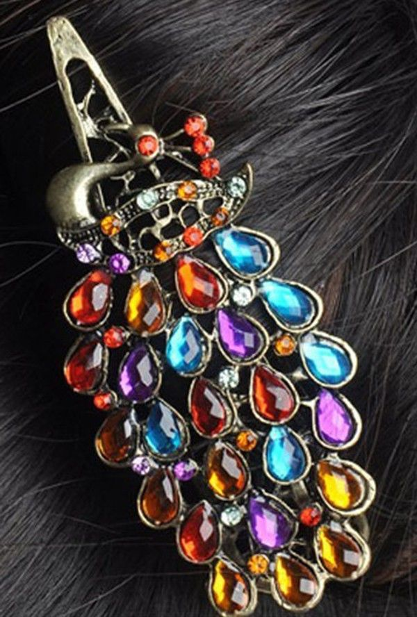 💬 #1 Шт. #Мода #Девушки #Женщин #Винтаж #Красочные #Rhinestone #Павлин #Шпилька #Зажим Для #Волос #Аксессуары  💰Цена: ₽59,69 руб. / шт.  📦Заказать:  http://ali.pub/c8r7d