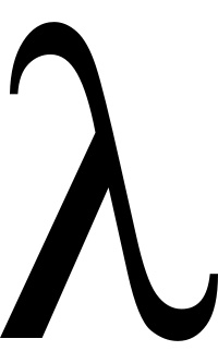 Lambdas have special meaning in programming. Another good symbol to consider.