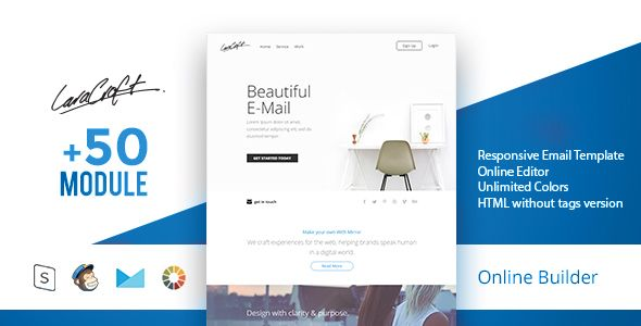 Carft - Modern Email Template + Online Access - Email Templates Marketing