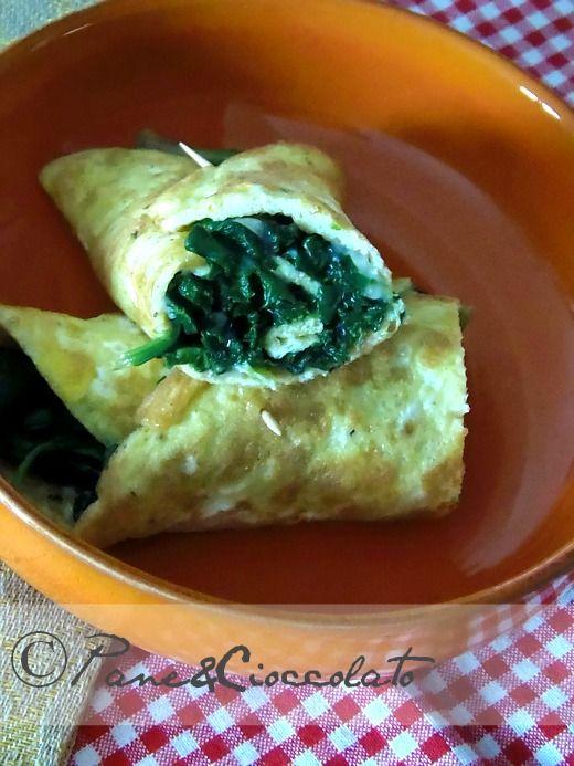 Frittata arrotolata spinaci e formaggio|ricetta veloce