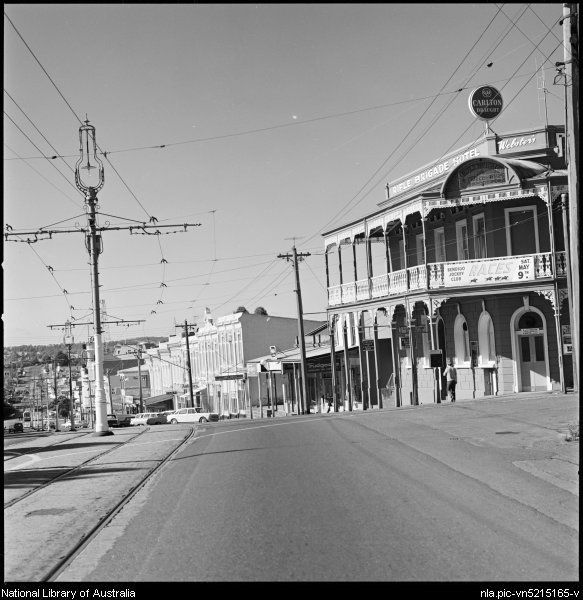 1941- Tramlines in front of Rifle Brigade Hotel