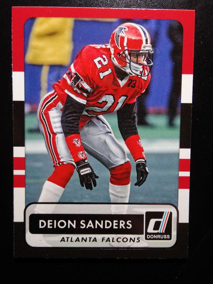 2015 Panini Donruss #178 Deion Sanders Atlanta Falcons Card #AtlantaFalcons