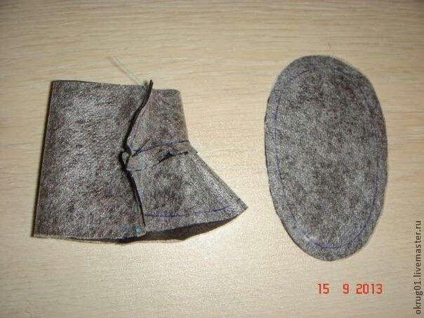 Bota para noel molde 1