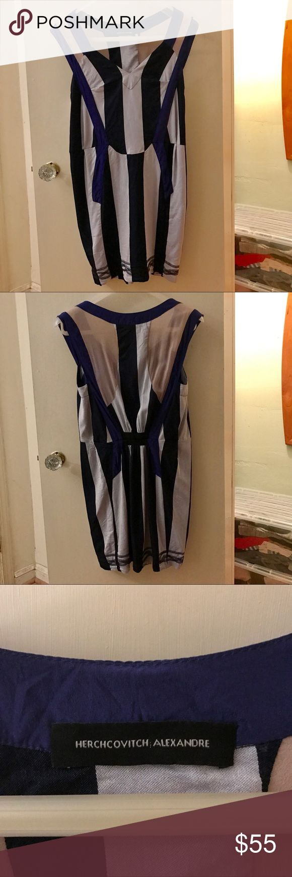 Alexandre Herchcovitch Striped Dress Alexandre Herchcovitch Striped Dress, indie designer, unique piece purchased at Opening Ceremony in NYC. Gently worn, great condition. Alexandre Herchcovitch Dresses