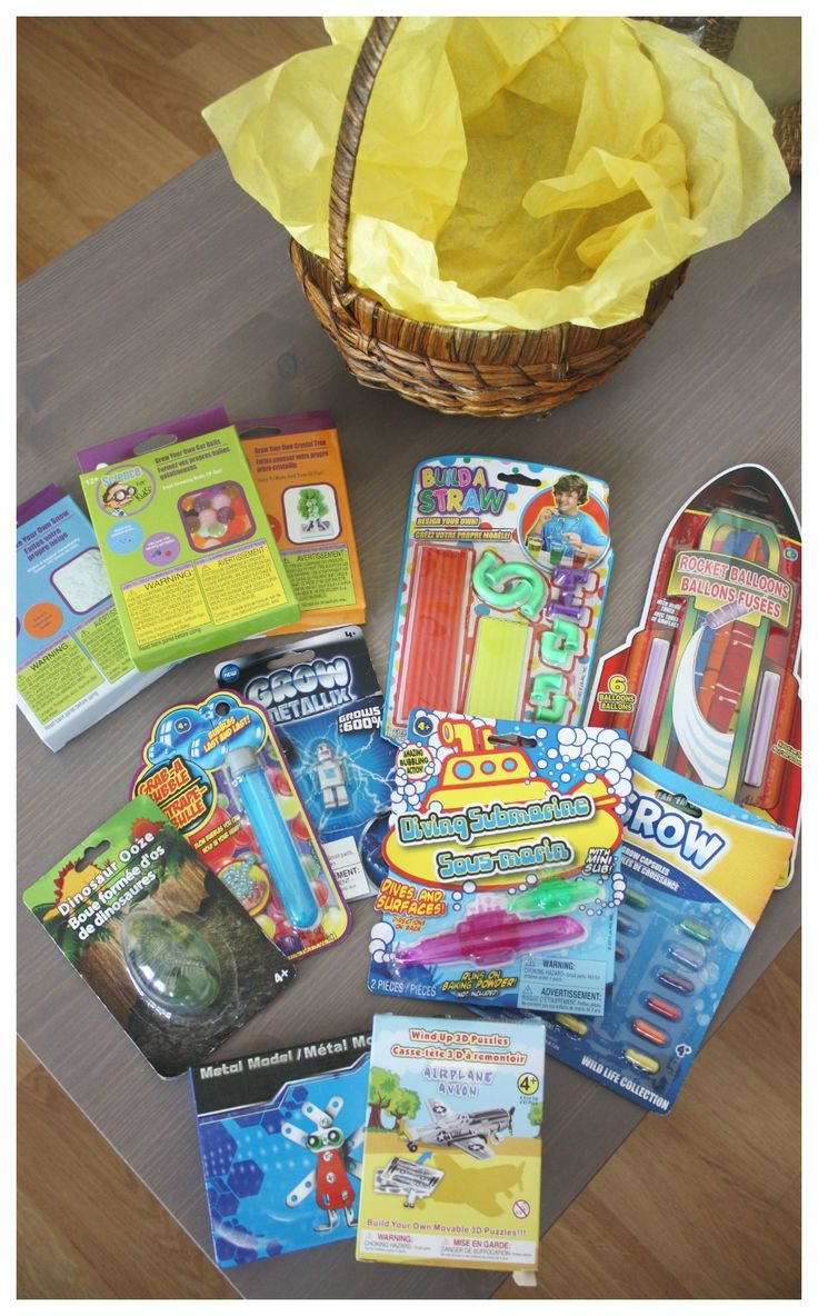 Easter Basket Dollar Store Science Activities rockets bubbles slime crystals engineering