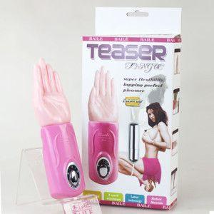 Alat Bantu Sex Vibrator ( Teaser Super Flexibility  ) adalah Alat Bantu sex vibrator teknologi terkini berbentuk tangan yang  di gunakan untuk keperluan seksual wanita, bahan silikon sangat lembut mirip seperti tangan, dengan 3 kecepatan getaran atau lambaian yang dapat di sesuaikan, juga di lengkapi dengan 1 buah vibrator berbentuk peluru.